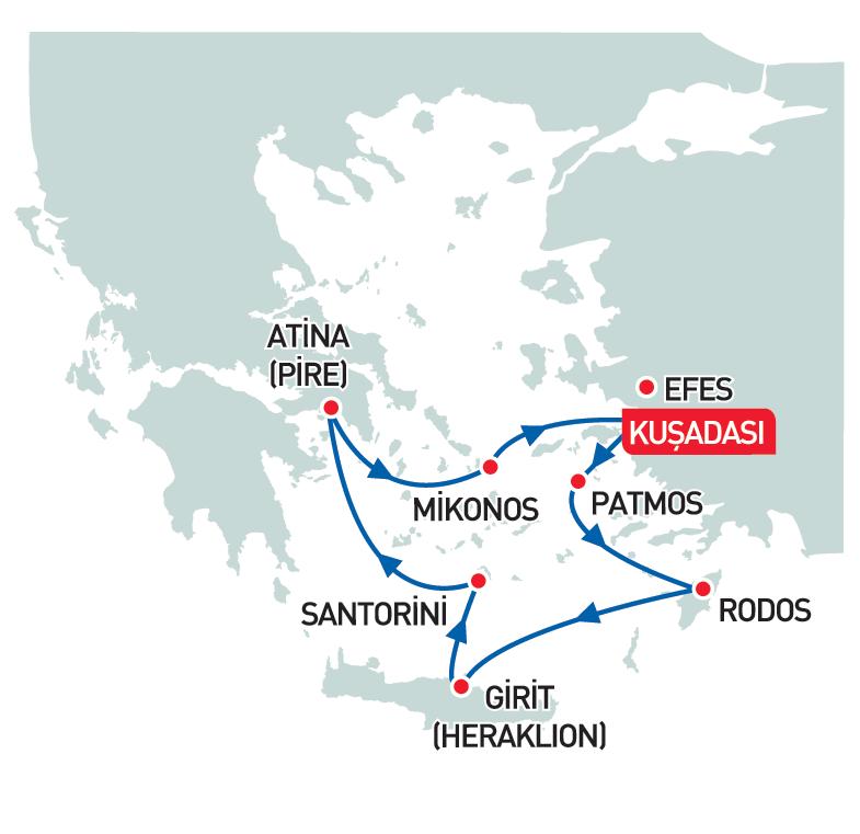 Celestyal Olympia ile Yunan Adaları Atina İconic Aegean 4 Gece 5 Gün